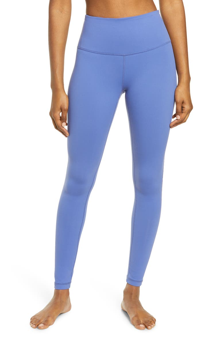 ZELLA Live In High Waist Leggings, Main, color, BLUE MARLIN