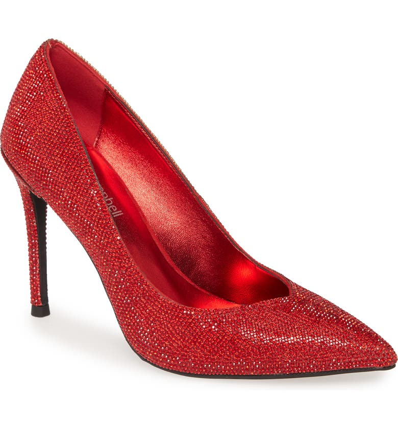 JEFFREY CAMPBELL Lure-JS Crystal Embellished Pointed Toe Pump, Main, color, 600