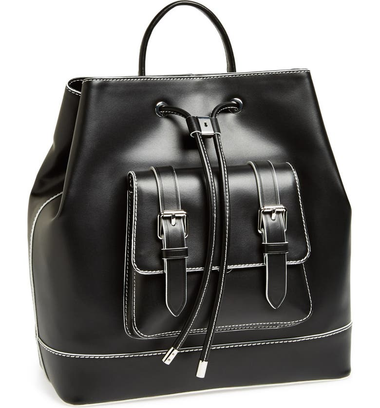 VINCE CAMUTO 'Tilly' Leather Backpack, Main, color, Black