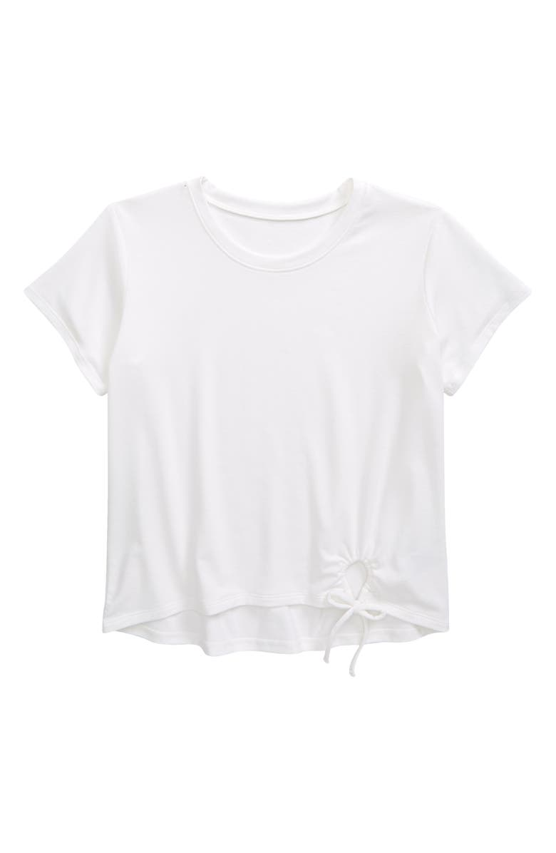 ZELLA GIRL Kids' Tied Up T-Shirt, Main, color, White
