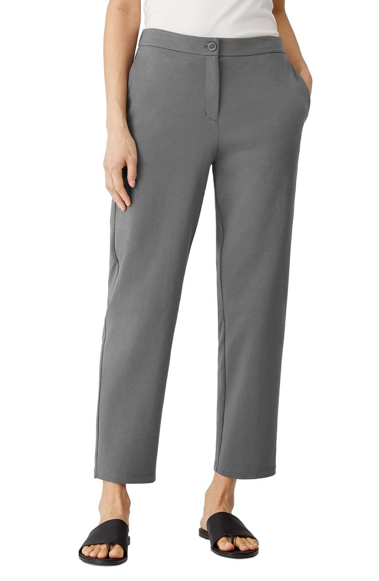 EILEEN FISHER Slouchy Ankle Pants, Main, color, SLATE