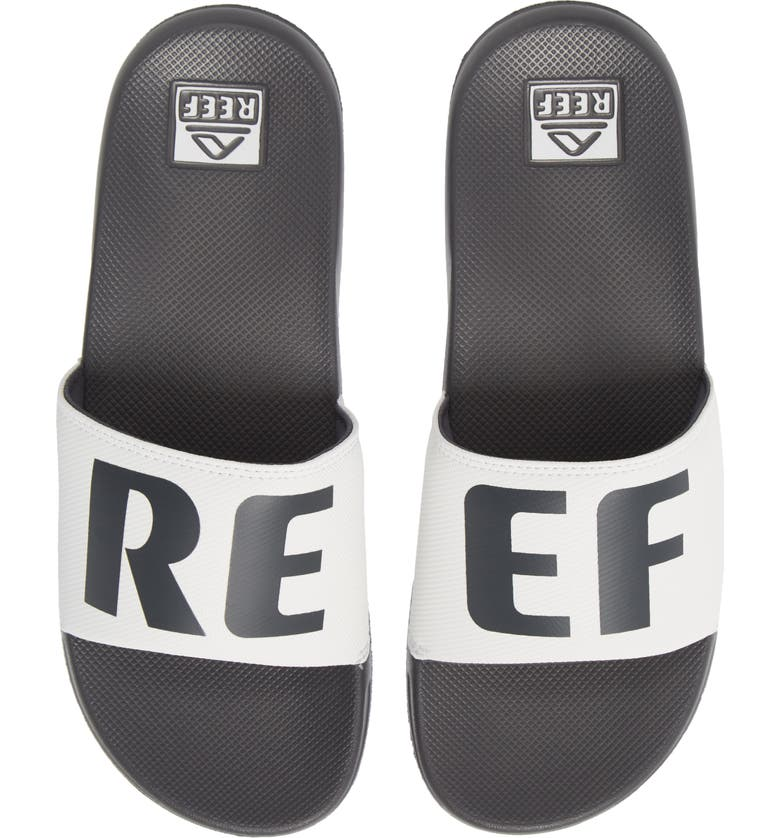 REEF One Slide Sandal, Main, color, GREY/ WHITE