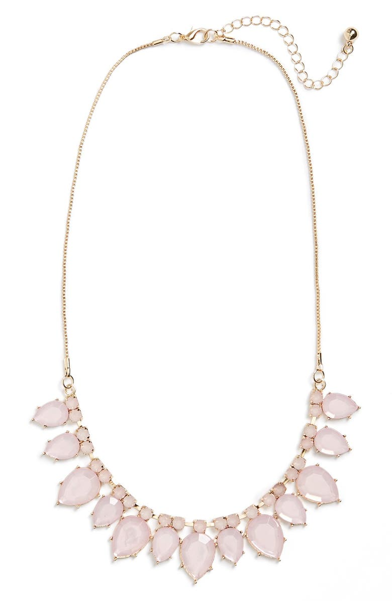 BP. Teardrop Statement Necklace, Main, color, 680