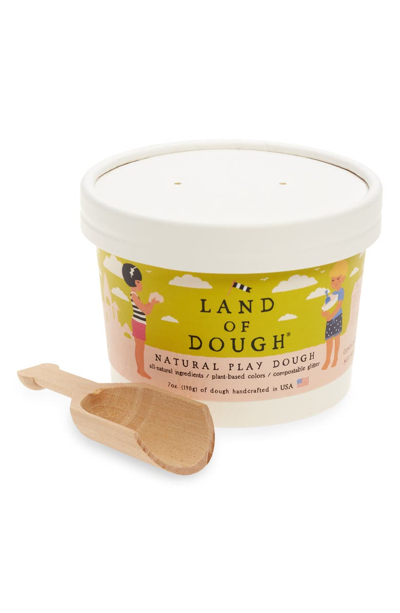LAND OF DOUGH Over The Rainbow Natural Play Dough, Main, color, White