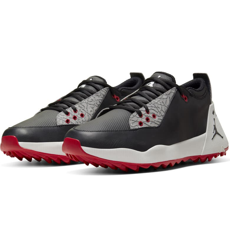 NIKE Jordan ADG 2 Golf Shoe, Main, color, BLACK/ SUMMIT WHITE/ RED