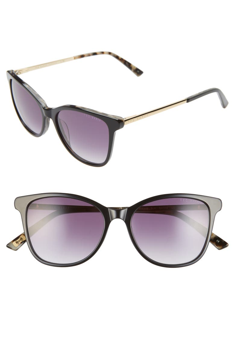 TED BAKER LONDON 52mm Square Sunglasses, Main, color, 001