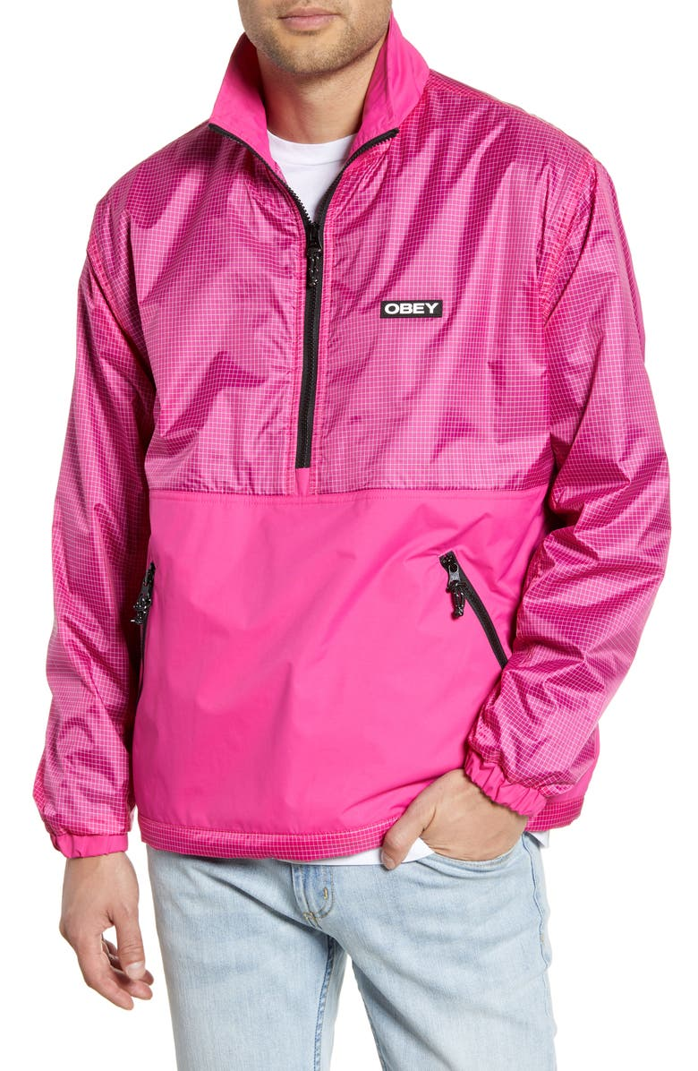 OBEY Nore Popover Jacket, Main, color, 690