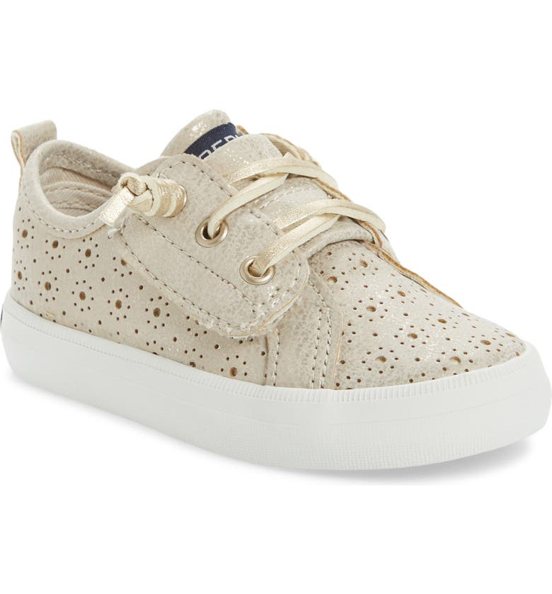 SPERRY Crest Vibe Jr. Perforated Metallic Sneaker, Main, color, 710