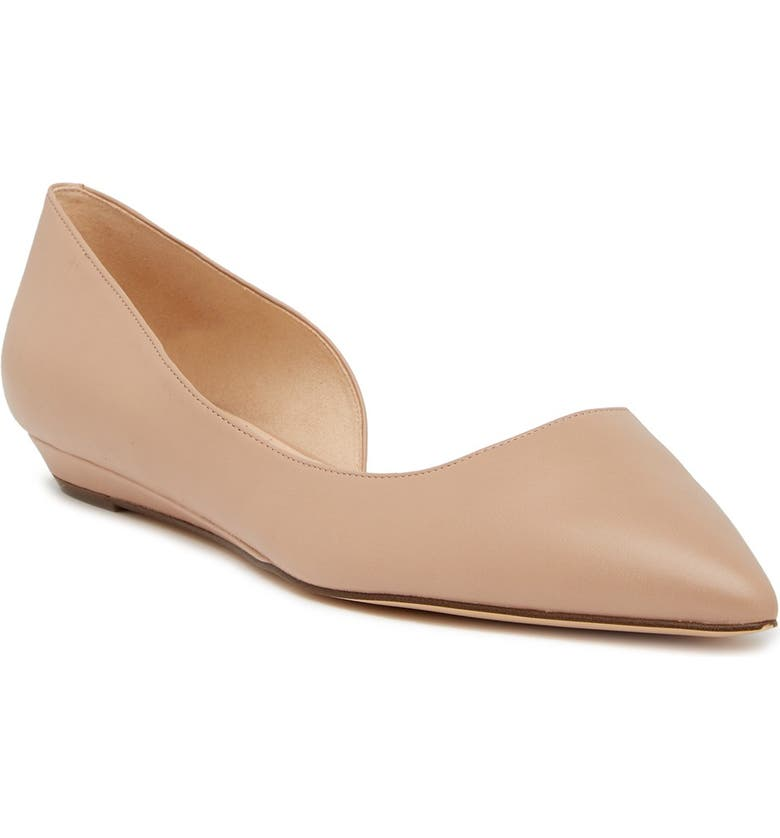 NINE WEST Saige d'Orsay Flat - Wide Width Available, Main, color, LT NATU SY