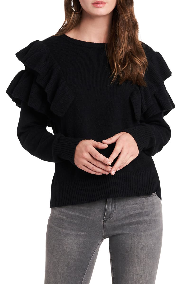 1.STATE Loop Back Terry Top, Main, color, RICH BLACK