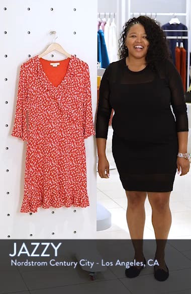Fluted Wrap Style Stretch Jersey Dress, sales video thumbnail