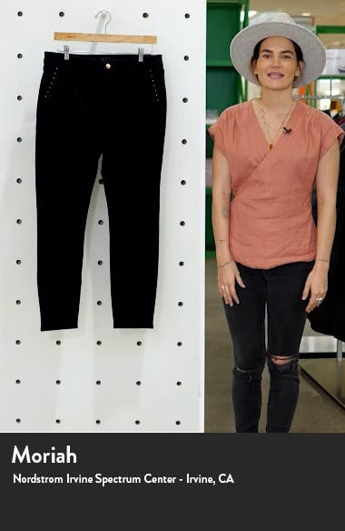 Stud Pocket Ankle Skinny Jeans, sales video thumbnail