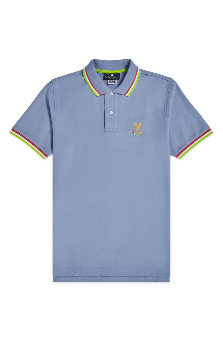 PSYCHO BUNNY Kids' St. Lucia Tipped Piqué Polo, Main, color, 403