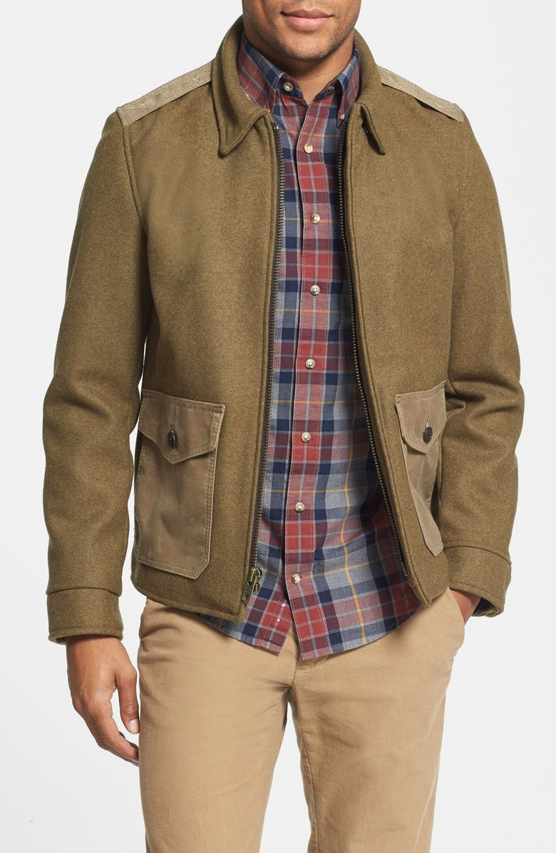 SCHOTT NYC Wool Military Jacket, Main, color, 360