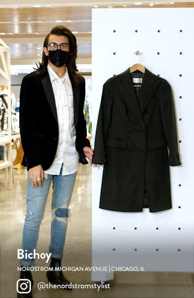 Ben Double Breasted Wool Coat, sales video thumbnail
