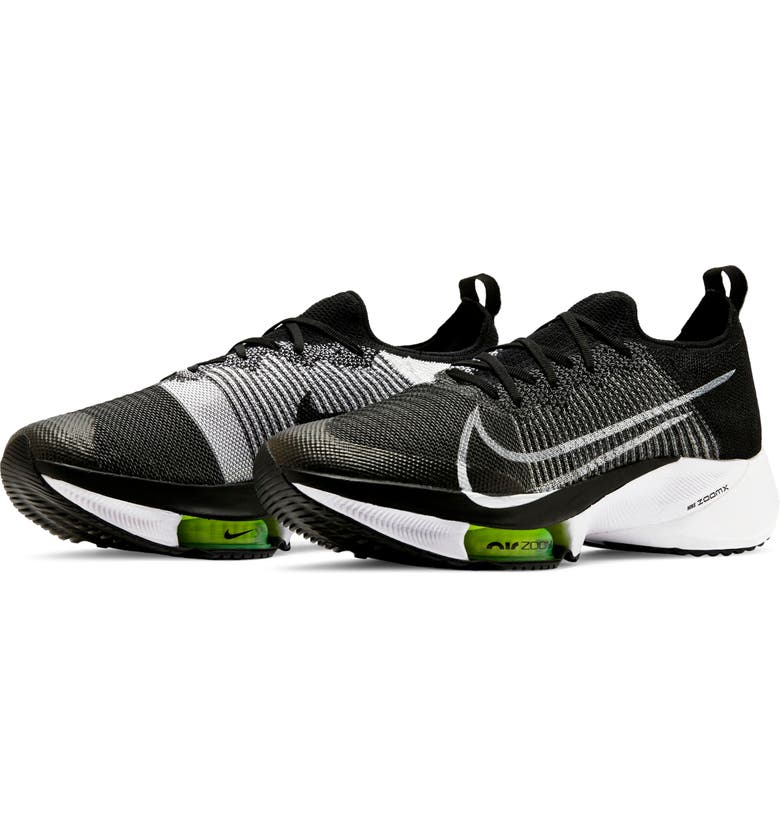 NIKE Air Zoom Tempo NEXT% Running Shoe, Main, color, BLACK/ WHITE/ VOLT