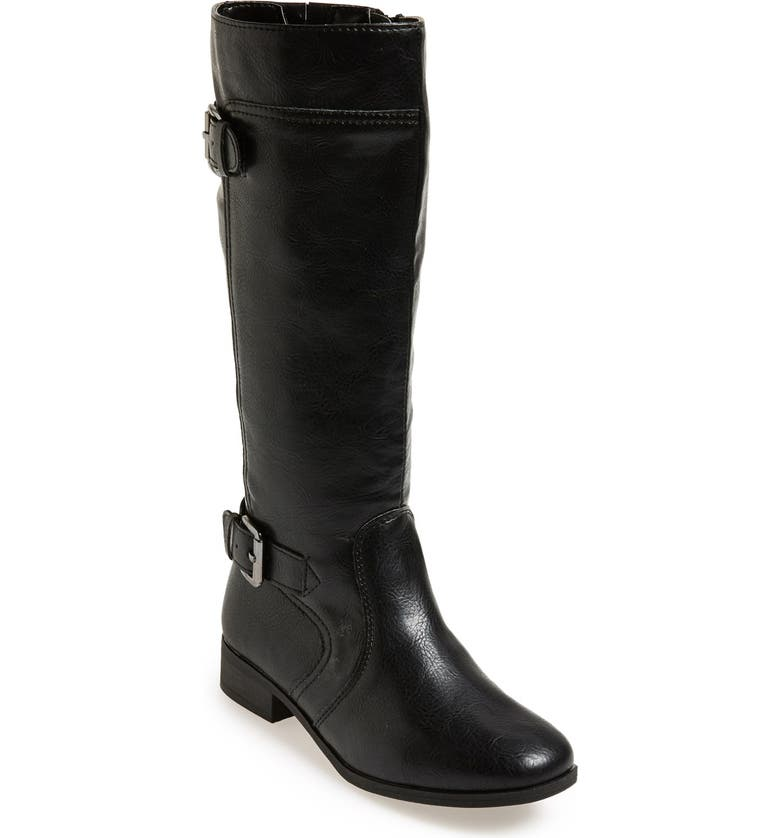 NORDSTROM 'Brynn' Riding Boot, Main, color, BLACK