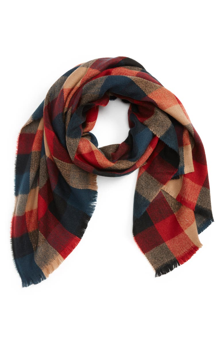BP. Checkered Oblong Scarf, Main, color, 601