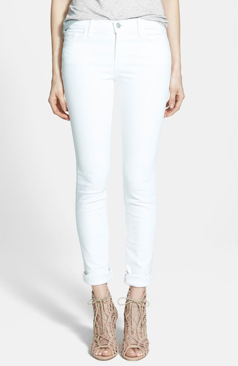 J BRAND '811' Mid-Rise Stovepipe Jeans, Main, color, BLANC
