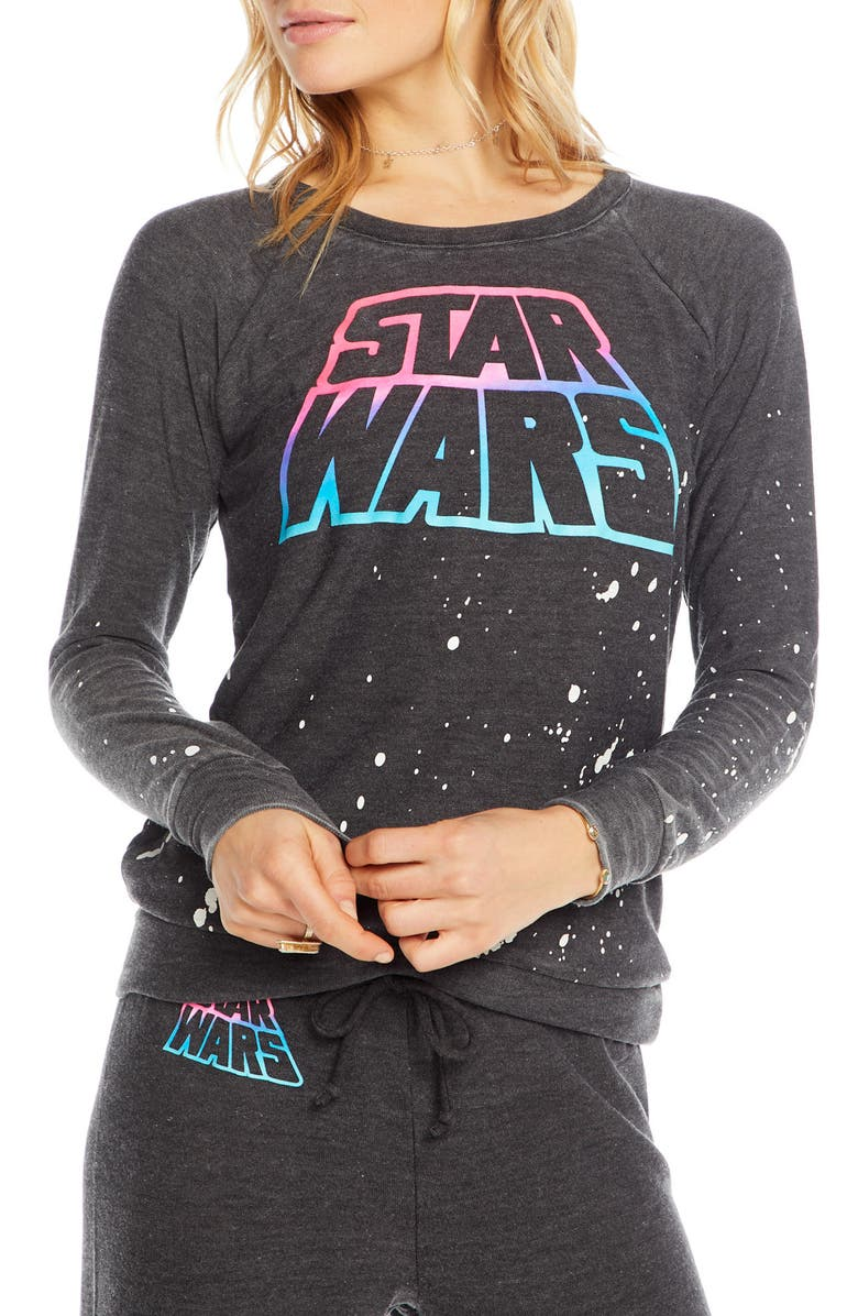 CHASER Star Wars Cozy Knit Pullover, Main, color, 001