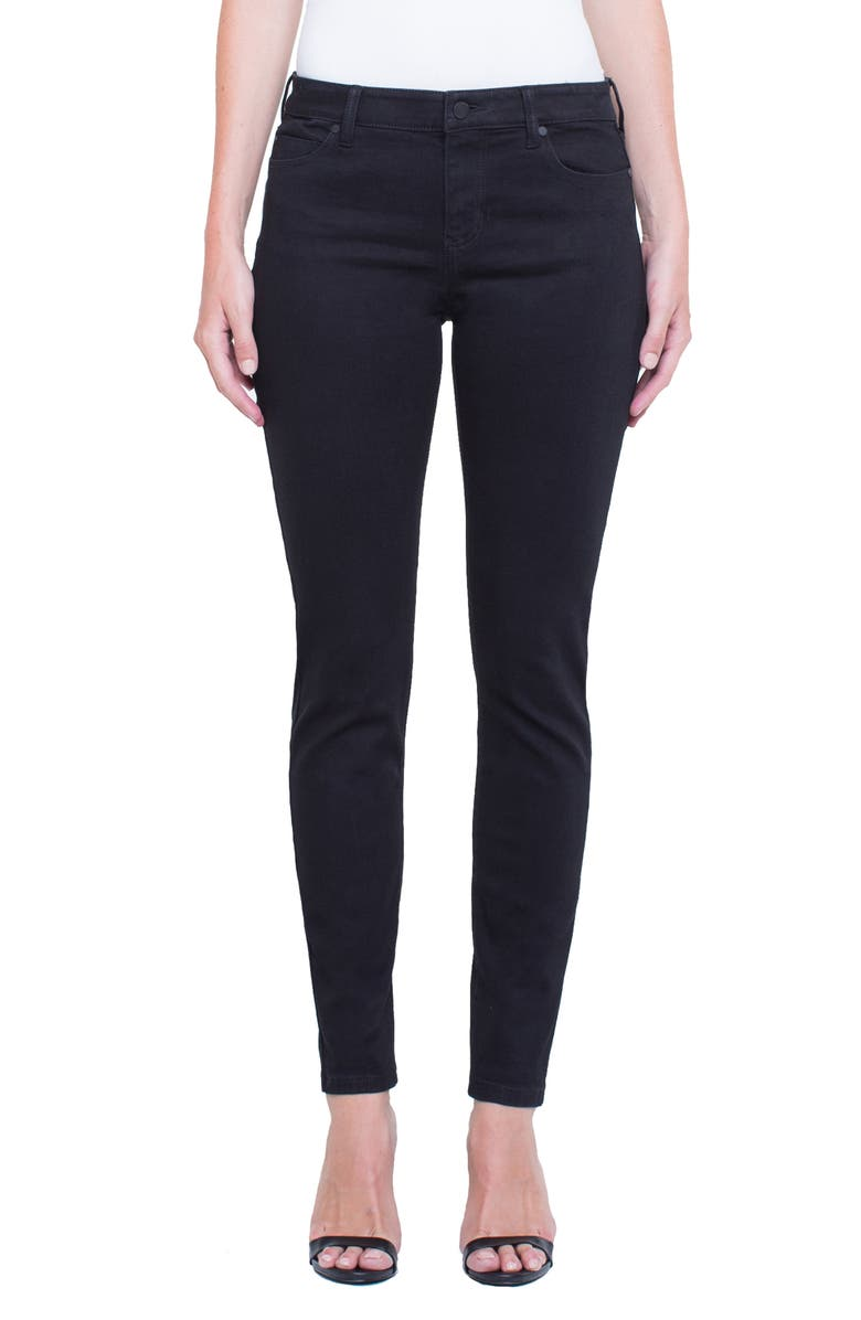LIVERPOOL Abby Mid Rise Soft Stretch Skinny Jeans, Main, color, 001