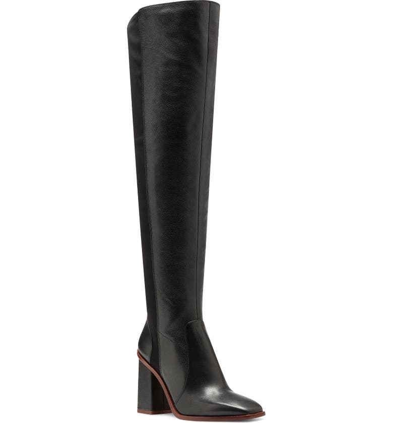 VINCE CAMUTO Dreven Over the Knee Boot, Main, color, BLACK LEATHER