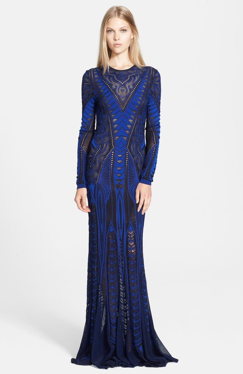ROBERTO CAVALLI Long Sleeve Gown, Main, color, 400