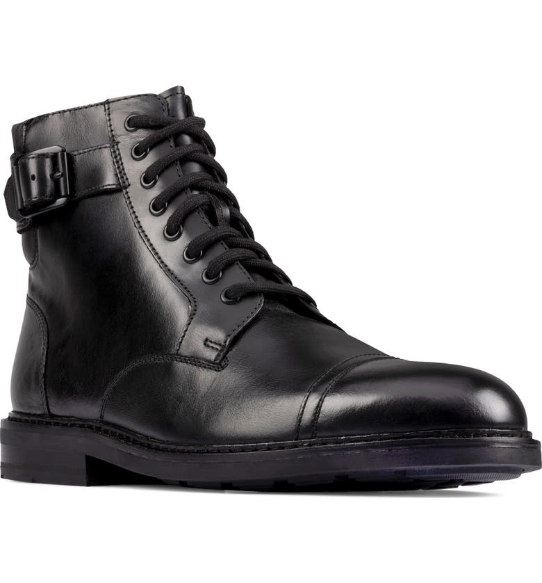 CLARKS<SUP>®</SUP> Clarkdale Cap Toe Boot, Main, color, BLACK LEATHER