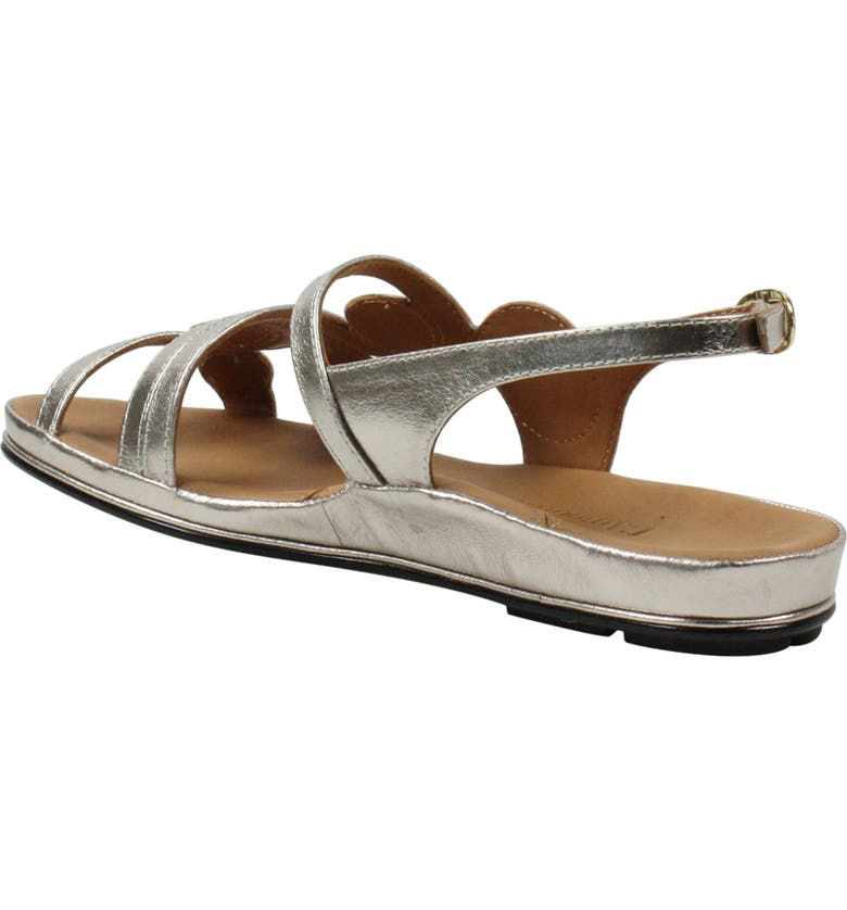 L'AMOUR DES PIEDS Darrius Strappy Sandal, Main, color, TAUPE/GOLD METALLIC NAPPA
