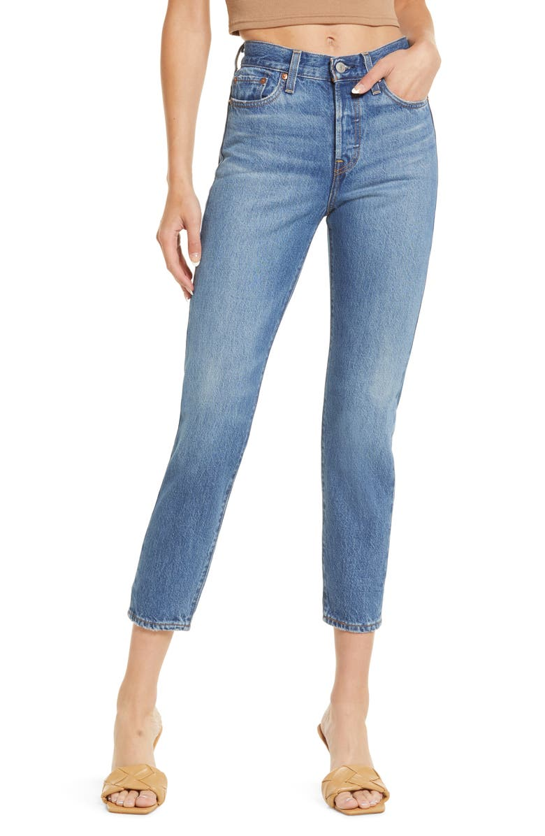 LEVI'S<SUP>®</SUP> Wedgie Icon Fit High Waist Jeans, Main, color, ATHENS SHUT IT