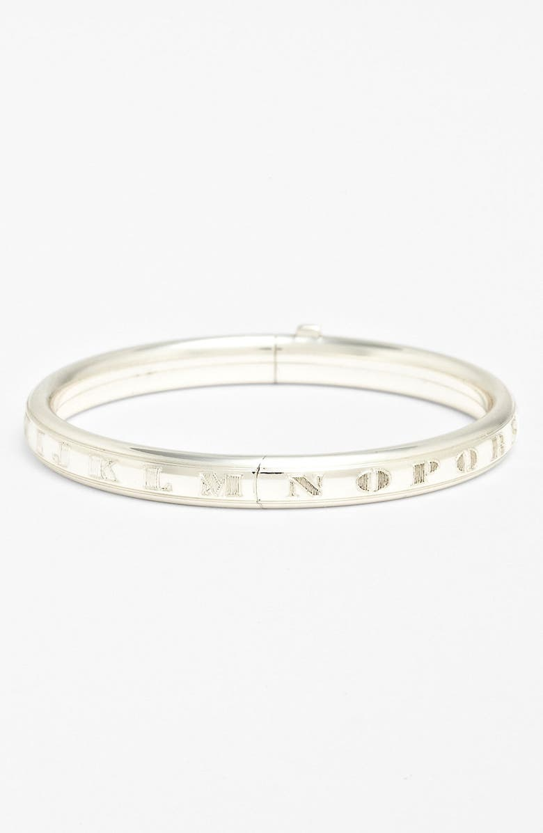 MIGNONETTE Sterling Silver Alphabet Bracelet, Main, color, STERLING SILVER