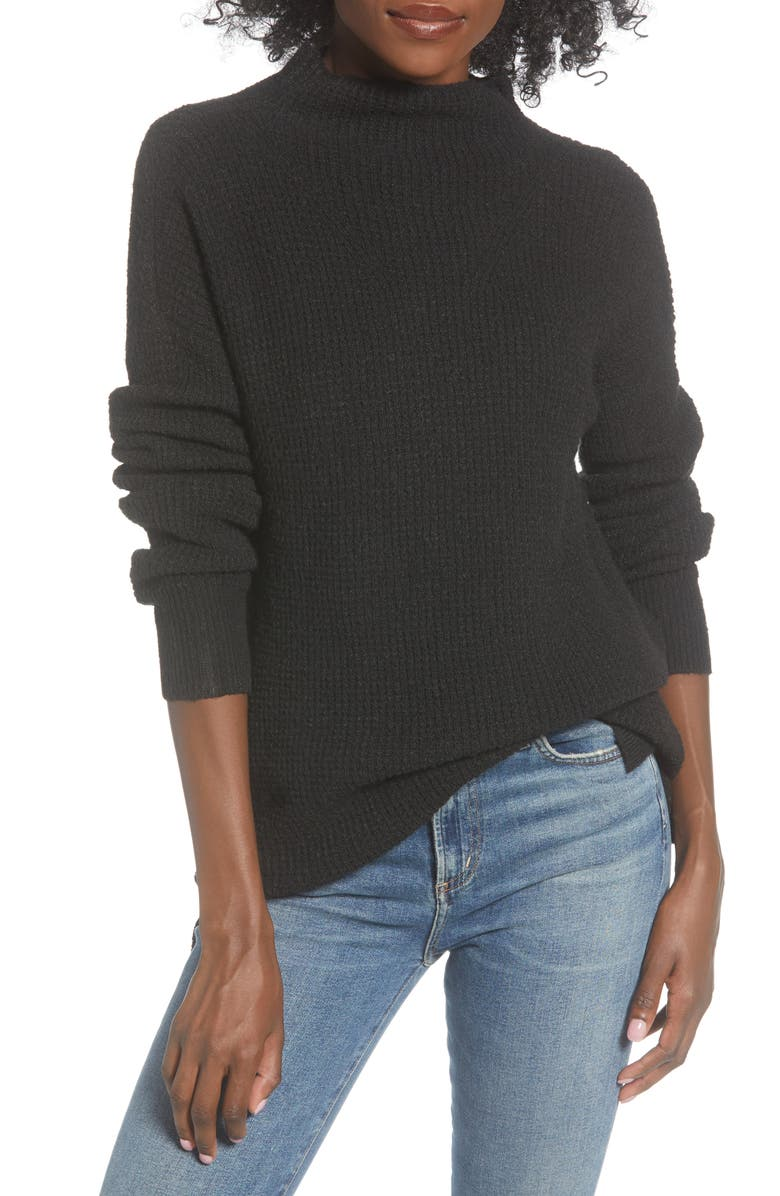 BP. Cozy Thermal Tunic Sweater, Main, color, 001