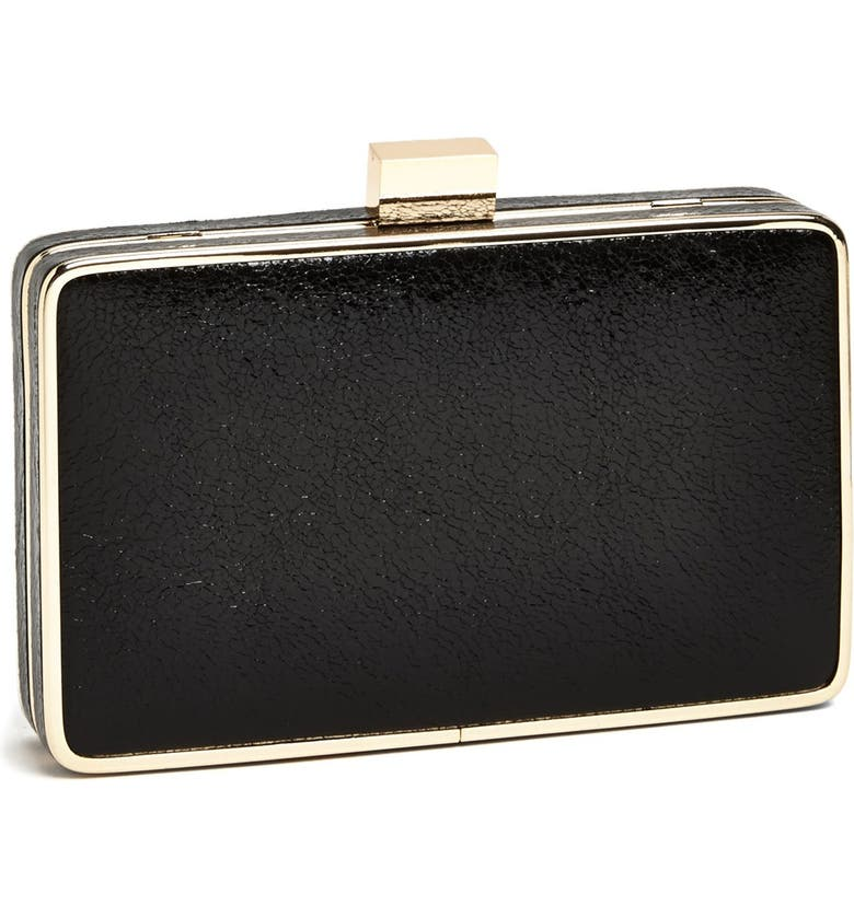 EXPRESSIONS NYC 'Crinkle' Box Clutch, Main, color, 001