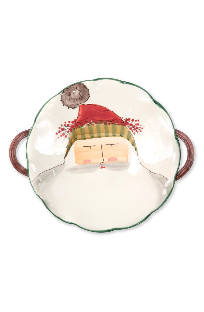 VIETRI Old St. Nick Scallop Handled Bowl, Main, color, 600