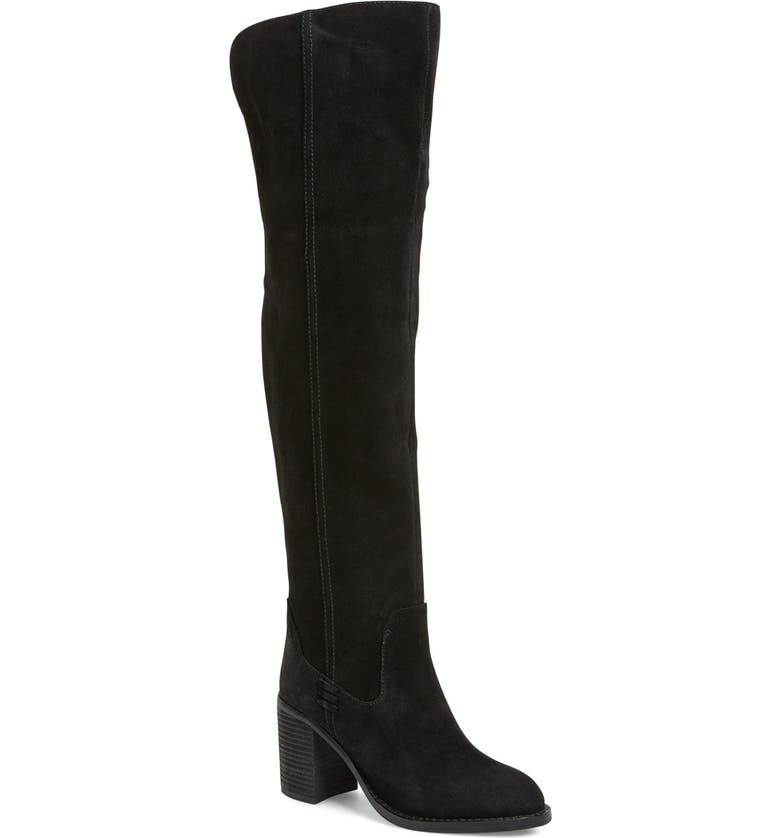 JEFFREY CAMPBELL 'Raylan' Over the Knee Boot, Main, color, 001