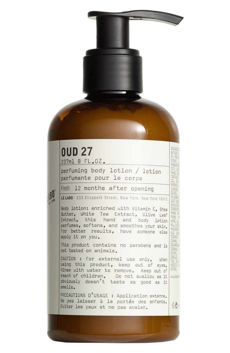 LE LABO Oud 27 Body Lotion, Main, color, No Color