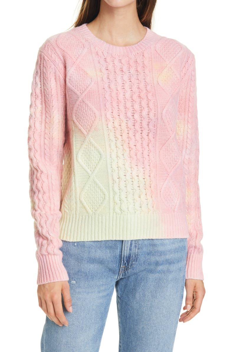 POLO RALPH LAUREN Aran Cable Knit Wool Blend Sweater, Main, color, 101