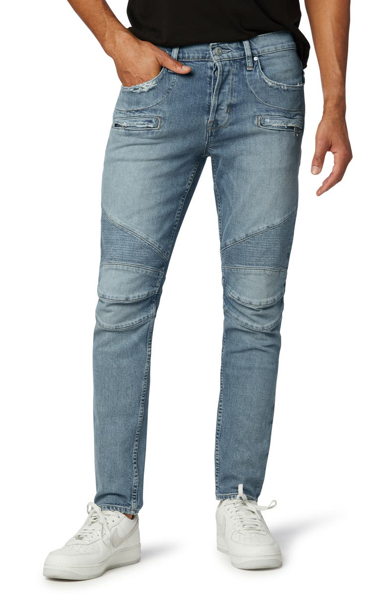 HUDSON JEANS The Blinder Biker V.2 Skinny Fit Jeans, Main, color, CAMPUS
