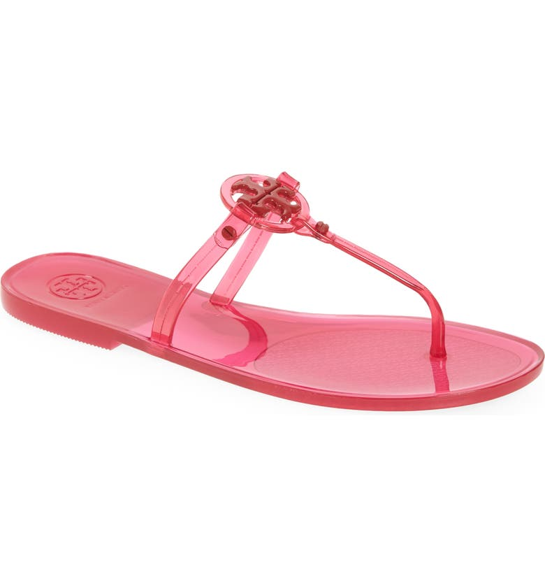 TORY BURCH Mini Miller Jelly Thong Sandal, Main, color, RED ORANGES