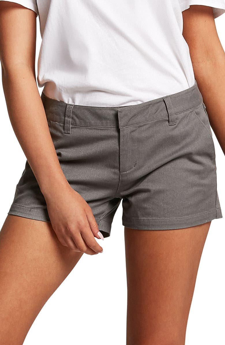 VOLCOM Frochickie Chino Shorts, Main, color, HEATHER GREY