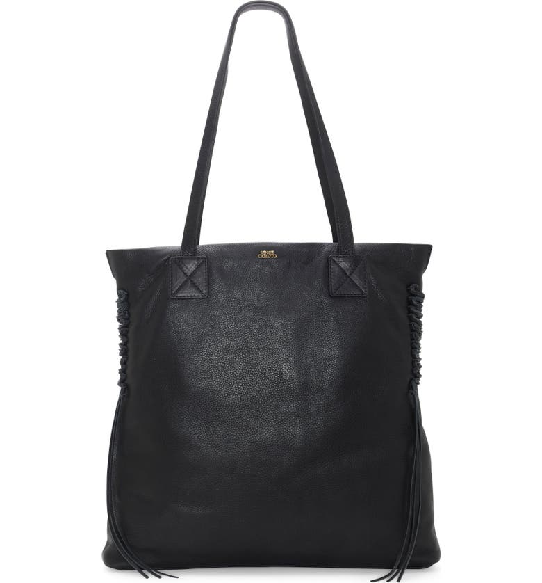 VINCE CAMUTO Jayde Leather Tote, Main, color, 001