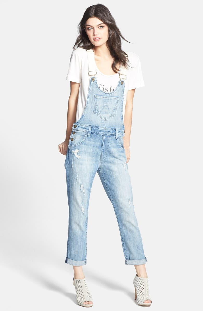 WILDFOX 'Chloe' Destroyed Overalls, Main, color, MEMORY