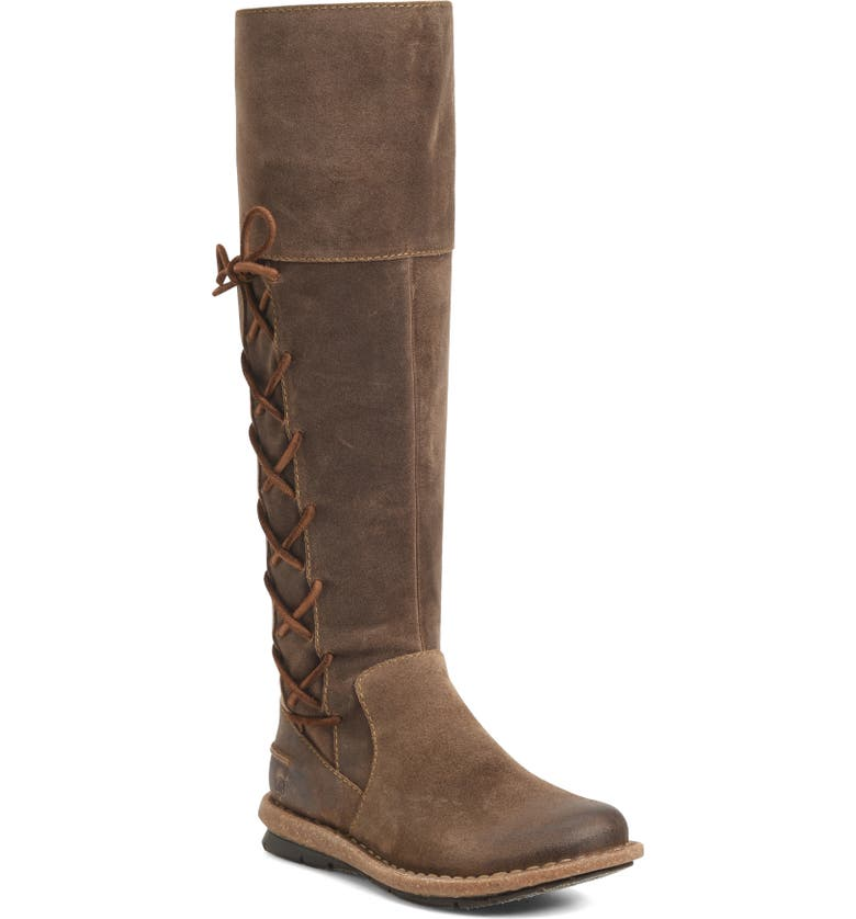 BØRN Tarla Knee High Boot, Main, color, TAUPE DISTRESSED SUEDE