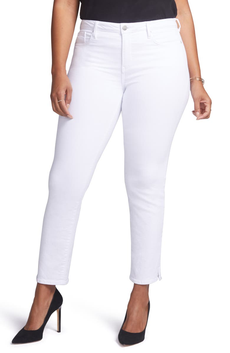 CURVES 360 BY NYDJ Slim Straight Leg Ankle Jeans, Main, color, OPTIC WHITE