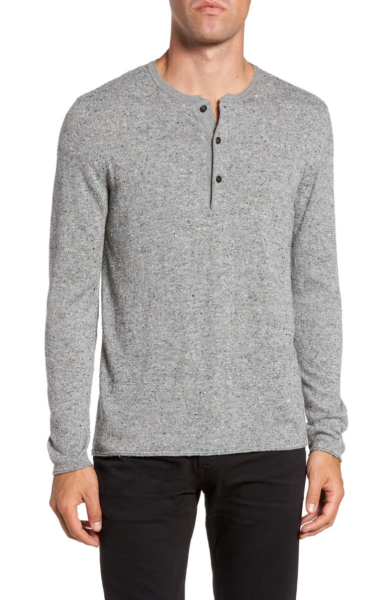 BILLY REID Speckled Henley Sweater, Main, color, 036
