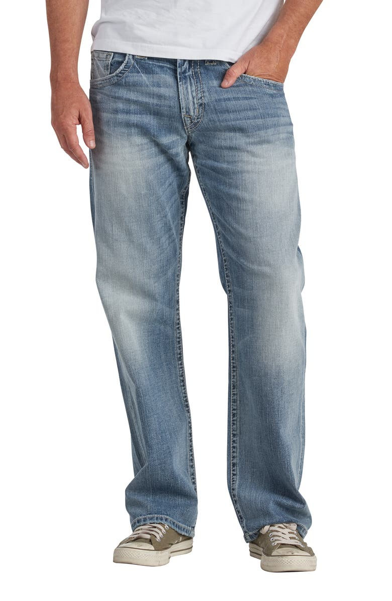 SILVER JEANS CO. Gordie Relaxed Fit Straight Leg Jeans, Main, color, INDIGO