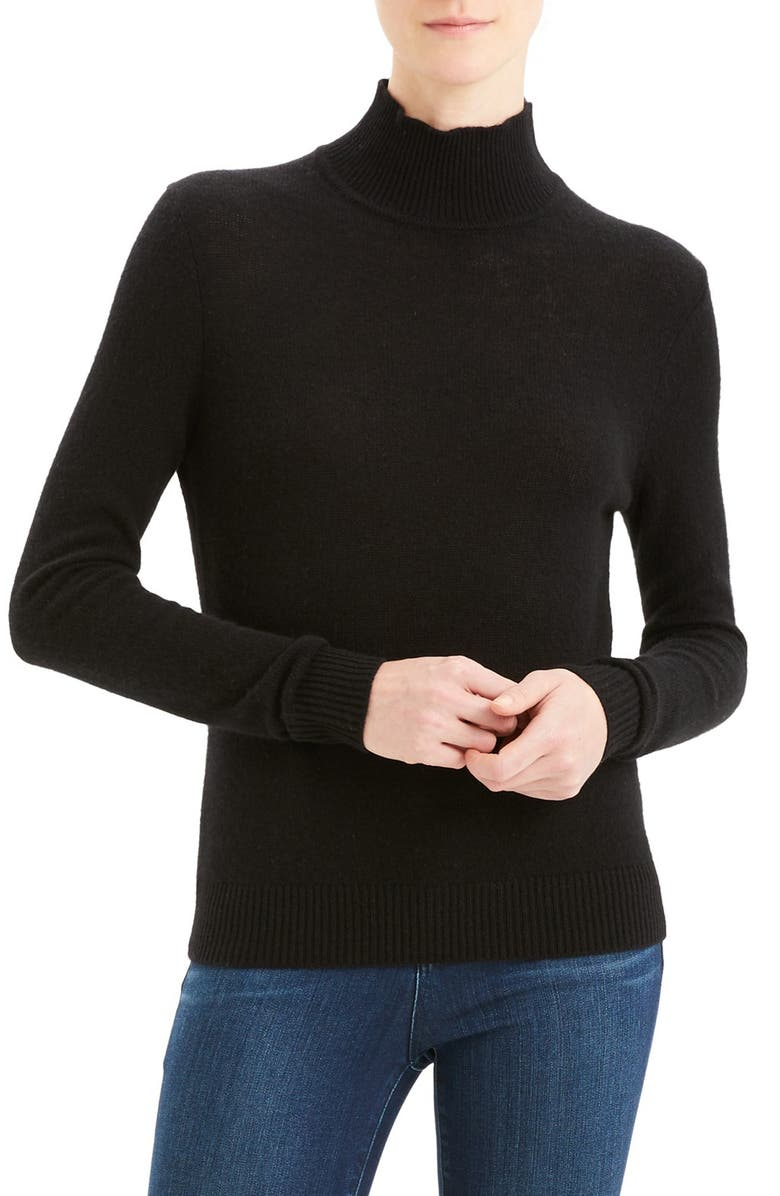 THEORY Turtleneck Cashmere Sweater, Main, color, 001