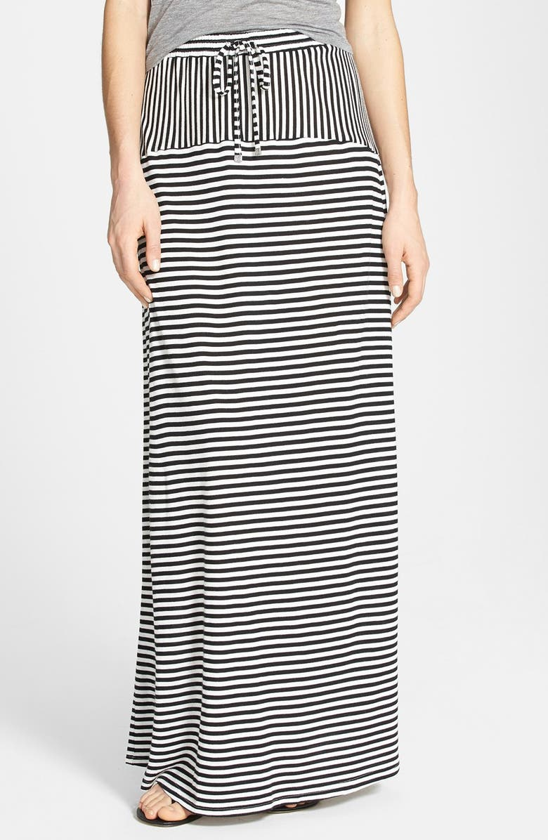 TWO BY VINCE CAMUTO 'Parallel Lines' Drawstring Maxi Skirt, Main, color, 060
