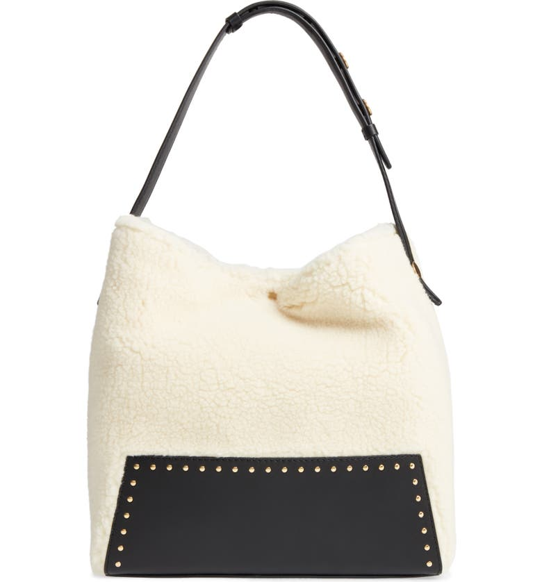 STELLA MCCARTNEY Alter Faux Shearling Hobo, Main, color, 108