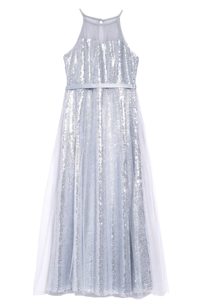 US ANGELS Sequin Dress, Main, color, Silver